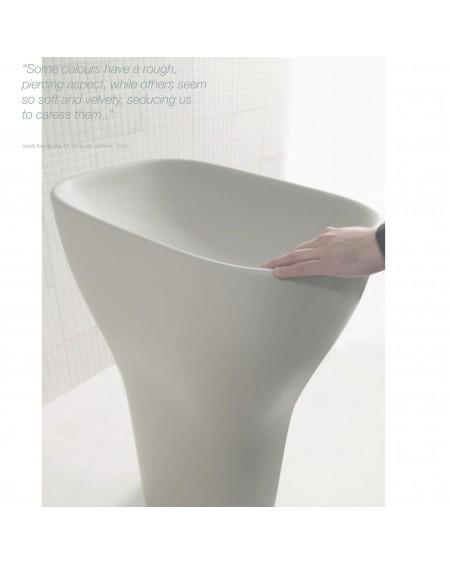 Umyvadlo barevné samostatně stojící Genesis 60cm colore Ghiaccio výrobce Globo materiál porcelán CERASLIDE® maxiclean antibak.