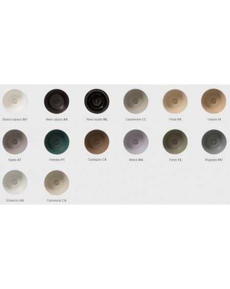 Dostupná barevná provedení serie výrobků Genesis Globo ceramica wc klozet mísa bidety umyvadla vany vaničky materiál porcelán