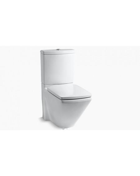 Stojicí wc toaleta kombi Dual-flush white Escale 68cm sedátko slow-close výrobce Kohler K-3588-0