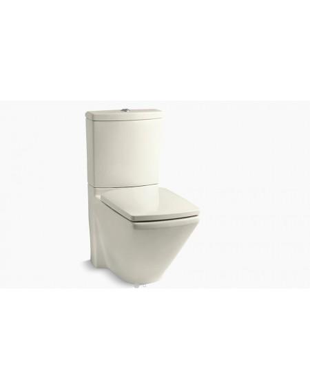 Stojicí barevná wc toaleta kombi Dual-flush almond Escale 68cm sedátko slow-close výrobce Kohler K-3588-47