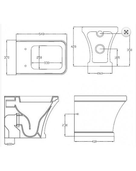 Stojící wc toaleta Tosca 54cm sedátko s poklopem softclose výrobce Hidra