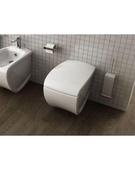 Stojící wc toaleta white Hi-line 54,5cm sedátko s poklopem softclose výrobce Hidra complete