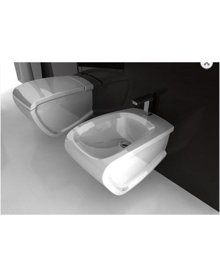 Závěsná wc toaleta white Hi-line 54,5cm sedátko s poklopem softclose výrobce Hidra complete