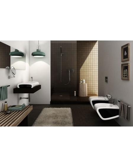 Sanitární závěsný wc set black - white Hi-line 54,5cm výrobce Hidra / B.W. wc toaleta