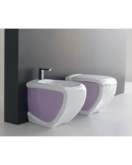 Stojící wc set pink - white Hi-line 54,5cm výrobce Hidra