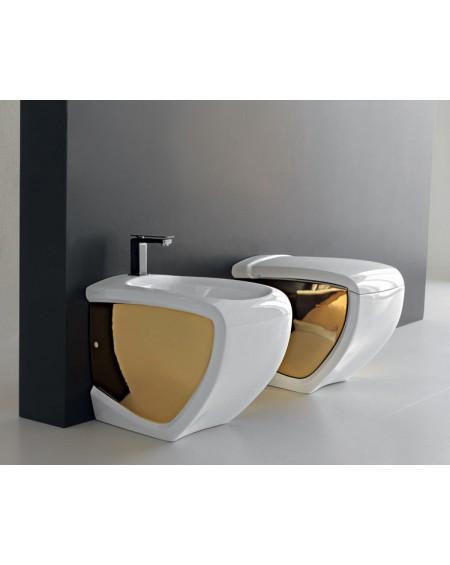 Stojící wc set gold - white Hi-line 54,5cm výrobce Hidra