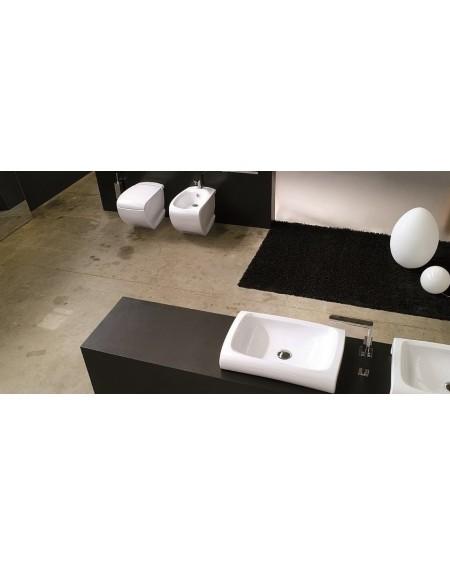 Sanitární stojící wc set white Hi-line 54,5cm výrobce Hidra / wc toaleta
