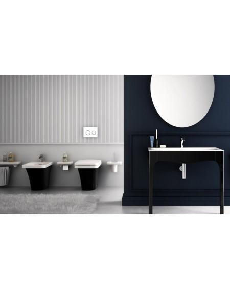Sanitární set závěsný black - white Flat 53cm výrobce Hidra