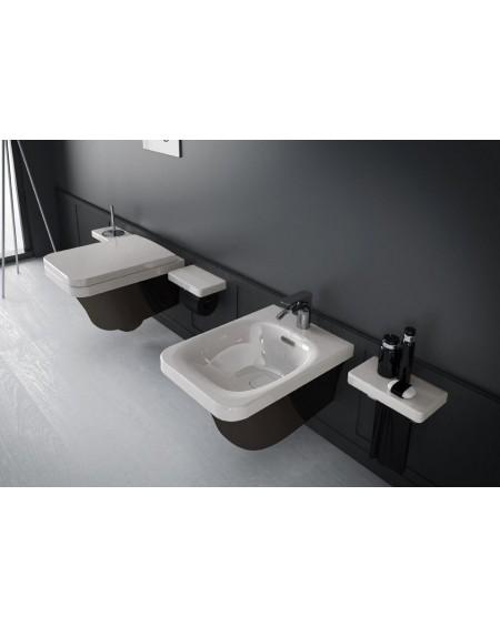 Sanitární set stojící black - white Flat 53cm výrobce Hidra