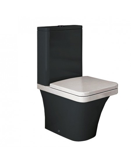 Stojící barevná toaleta kombi black - white Flat 67cm sedátko slow-close výrobce Hidra