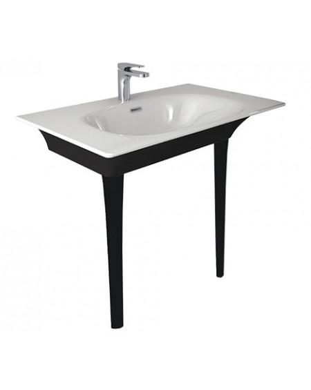 Umyvadlo consolle Flat black - white 86x51cm výška 85cm výrobce Hidra materiál porcelán - průměr 32mm
