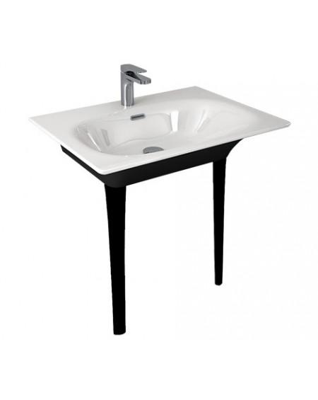 Umyvadlo consolle Flat black - white 71x51cm výška 85cm výrobce Hidra materiál porcelán - průměr 32mm