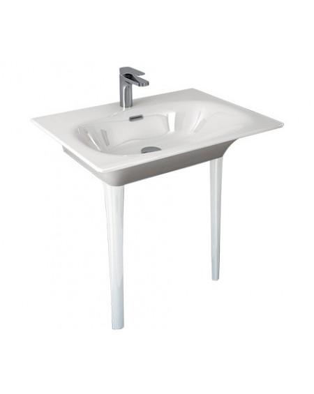 Umyvadlo consolle Flat white 71x51cm výška 85cm výrobce Hidra materiál porcelán - průměr 32mm
