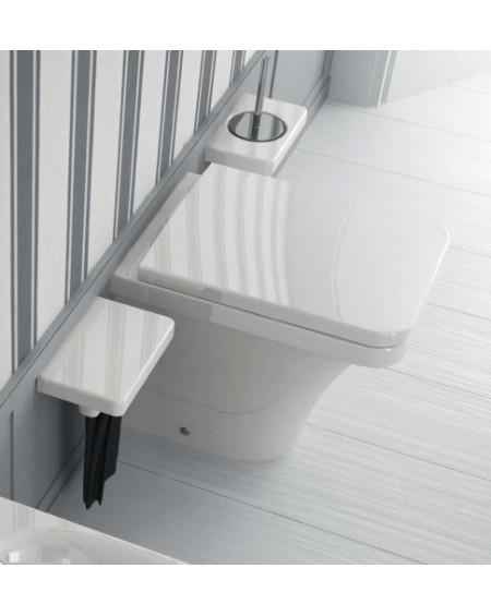 Stojící wc toaleta white Flat 53cm sedátko slow-close výrobce Hidra