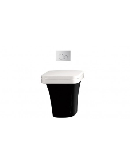 Stojící barevná toaleta black - white Flat 53cm sedátko slow-close výrobce Hidra