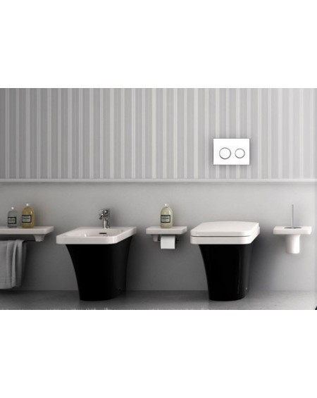 Stojící bidet barevný black - white Flat 53cm výrobce Hidra