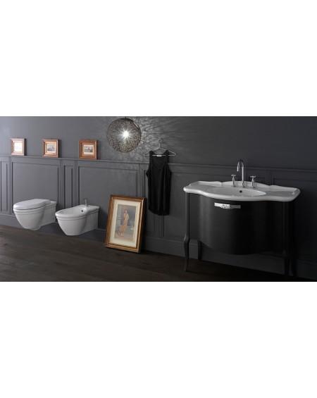 Sanitární závěsný set vintage wc toaleta bidet white Paestum 57cm výrobce Globo It.