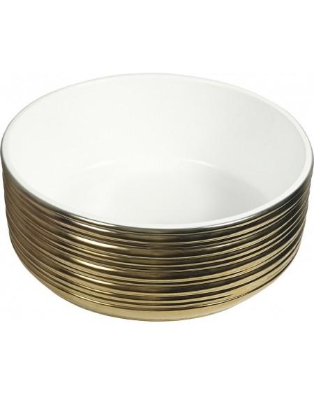 Zlaté umyvadlo materiál porcelán plus PVD Kayan Oro 37.5x37.5x14.5 cm výrobce Dune ceramic Es.