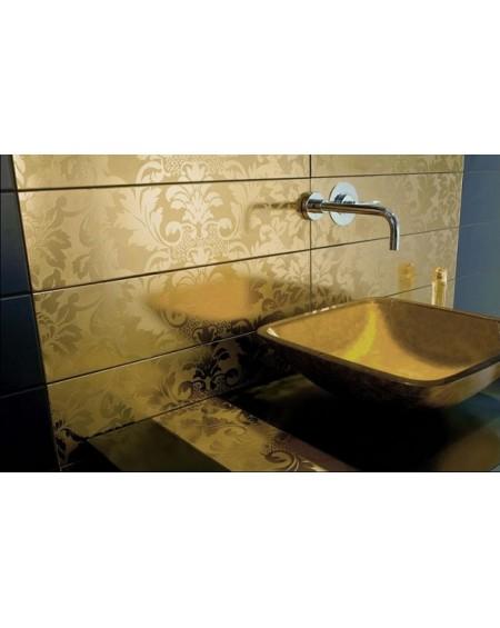 Umyvadlo materiál tvrzené sklo GRG Cuadrado Anaranjado 42.5 x 42.5 x 12 cm výrobce Dune ceramic Es. Imitacion 24K orange