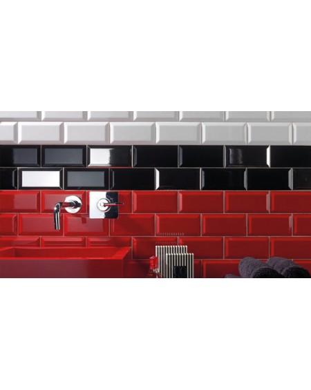 Obklad Metro diamante biselado arena rojo 10x20 cm výrobce Ape retro zkosené hrany lesk