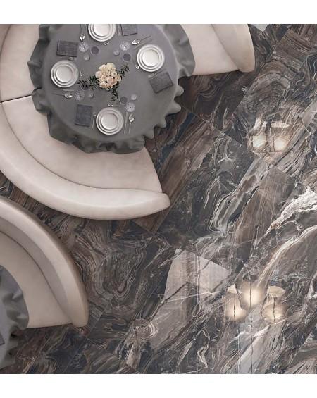 Dlažba obklad imitující mramor Supreme Exotic brown 60x120 cm lappato výrobce Flaviker PI.SA lesk