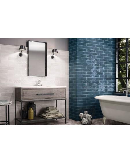 Koupelnový obklad retro lesklý Opal marine 7,5x30 cm výrobce Cifre tmavý modrý