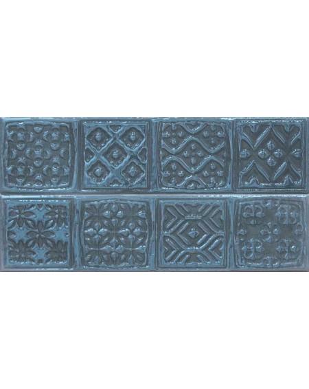 Koupelnový obklad retro lesklý Opal marine 7,5x30 cm výrobce Cifre / Composición Rodia tmavý modrý