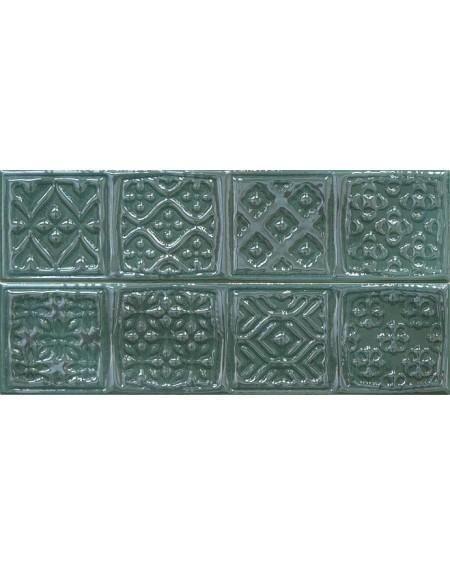 Koupelnový obklad retro lesklý Opal emerald 7,5x30 cm výrobce Cifre tmavý zelený / Composición Rodia 1/ ks