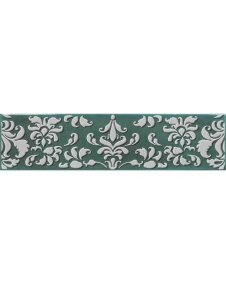 Koupelnový obklad retro lesklý Opal emerald 7,5x30 cm výrobce Cifre tmavý zelený / dekore Coquet