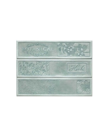 Kuchyňský obklad retro lesklý Opal Turquoise 22,5x30 cm výrobce Cifre světlý zelený 3ks set / dekore Composición 1/ks