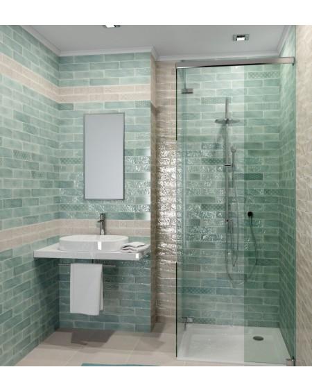 Koupelnový obklad retro lesklý Opal Turquoise 7,5x30 cm výrobce Cifre světlý zelený