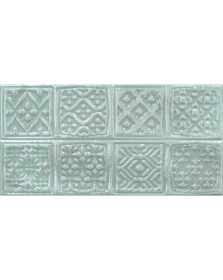 Koupelnový obklad retro lesklý Opal Turquoise 7,5x30 cm výrobce Cifre světlý zelený 2ks set / Composición Rodia cena za 1/ks