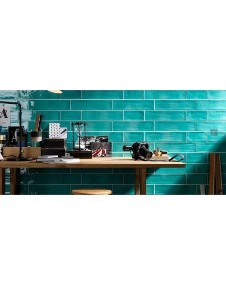 Koupelnový obklad retro Joyful turquoise 10x40 cm výrobce Tonalite