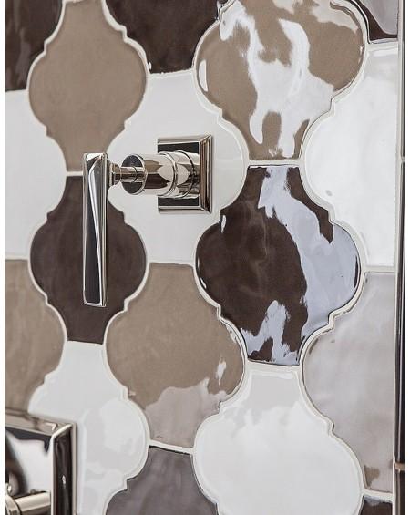 Koupelnový obklad se vzorem Alhambra serie Arabesque Silk barvy Visione Kaki Gesso 14,5x14,5cm výrobce Tonalite It. Lesklý