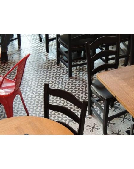 Dlažba se vzorem Art retro patchwork Terrades Grafito Basalto 20x20 cm výrobce Vives bíločerná matná 1/m2