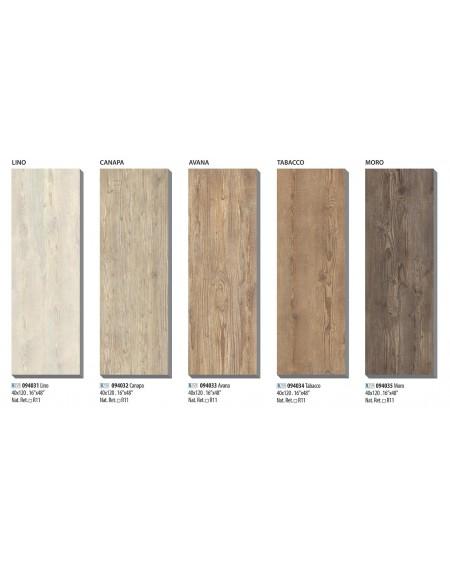Dlažba imitující dřevo Ca Foscari 40x120cm rtt. Výroce La Fabbrica venkovní tl. 2cm protiskluzová povrch R11