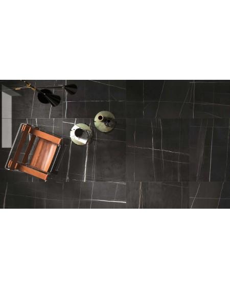 Dlažba obklad černý mramor lesk slim ultratenká Infinito 2.0 Sahara Noir Glossy 120x120cm / 6,5mm rtt. Lappato výrobce Fondovall