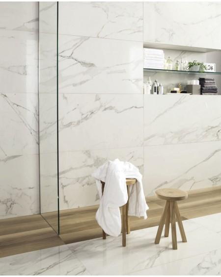Dlažba obklad bílý mramor Calacatta Gold Glossy ultra slim 60x120cm tl. 6,5mm rtt. Výrobce Fondovalle Italy lesk
