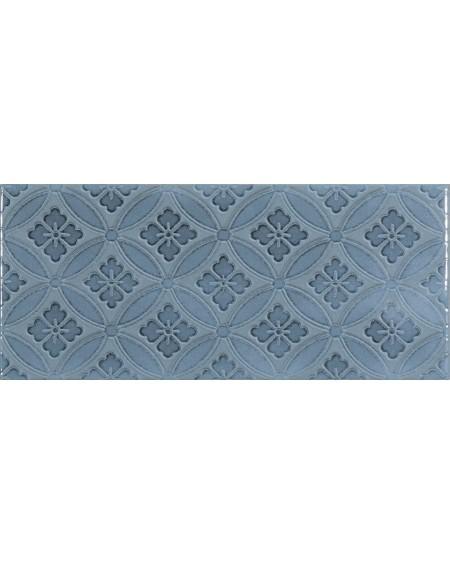 Koupelnový obklad retro lesklý modrý Deco Maiolica bluesteel 11x25cm cm výrobce Roca 1/m2