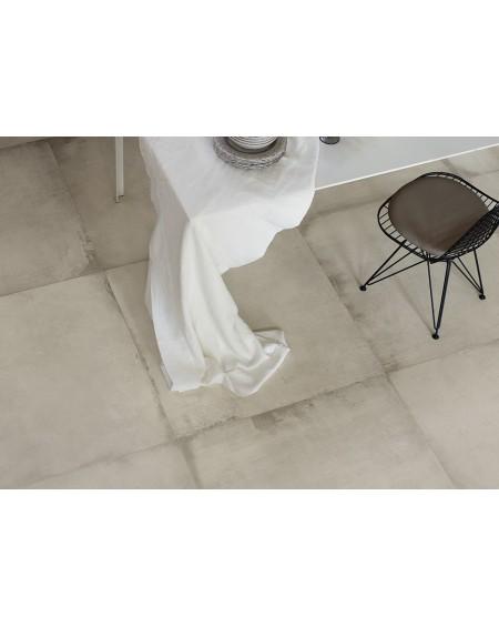 Dlažba obklad velkoformátová gres imitující beton Warerfront 90W White 90x90cm výrobce Leonardo Italy kalibrovaná matná