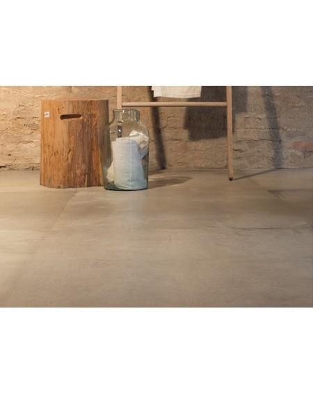 Dlažba obklad velkoformátová gres imitující beton Warerfront 90CP Capucino 90x90cm výrobce Leonardo Italy kalibrovaná matná