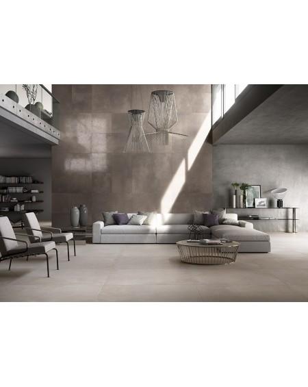 Dlažba obklad velkoformátová imitující beton Word Up AL almond 60x60cm lappato rtt. Výrobce Leonardo It. Povrch lesk