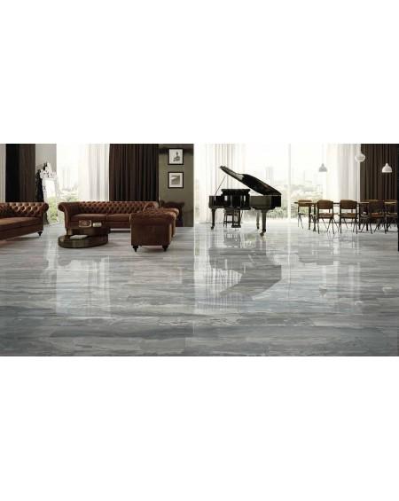 Dlažba obklad imitující šedý mramor Castle Chambord 60x120 cm Rtt. Lappato povrch lesk kalibrováno výrobce La Fabbrica
