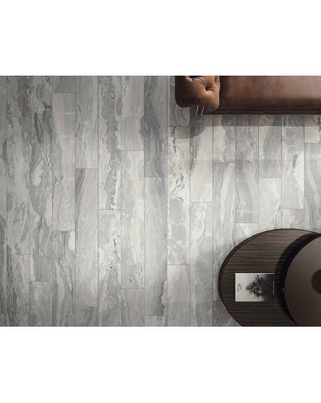 Dlažba obklad imitující šedý mramor Castle Chambord 20x120 cm Rtt. Naturale povrch mat kalibrováno výrobce La Fabbrica