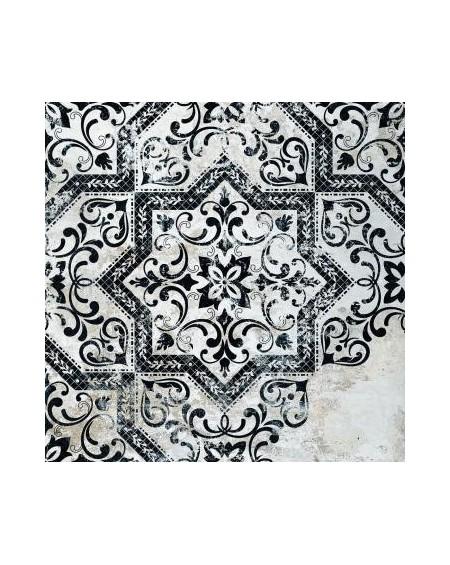 Dlažba obklad se vzorem Art retro patchwork Mindanao Term. 01 - 60x60 cm výrobce Absolut černobílá matná 1/m2
