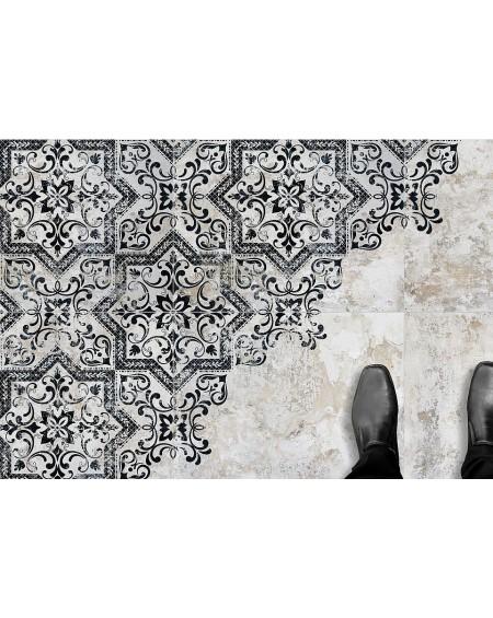 Dlažba obklad se vzorem Art retro patchwork Mindanao Decor 60x60 cm výrobce Absolut černobílá matná 1/m2