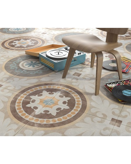 Dlažba obklad patchwork retro se vzorem decor Tempo Naos 60x60cm povrch R9 výrobce Arcana cena za 1/m2