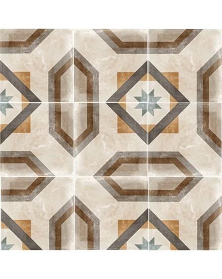 Dlažba obklad patchwork retro se vzorem decor Tempo Celeno 60x60cm povrch R9 výrobce Arcana cena za 1/m2