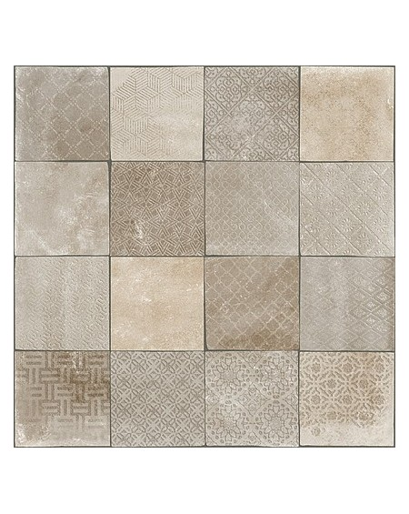 Obklad dlažba patchwork retro se vzorem decor Tempo Besel Taupe Rtt. Kalibrováno 60x60cm povrch R9 výrobce Arcana cena za 1/m2