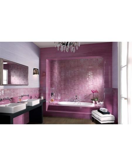 Koupelnový obklad barevný lila Sole Buganvilla 25x75 cm lesk výrobce Fap